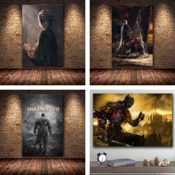 Картины по мотивам видео-игры Dark Souls от GRYAN (в ассотрименте)