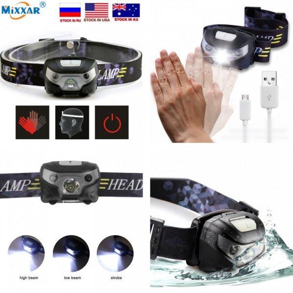 Налобный фонарик на аккумуляторах Mixxar (4000Lm)