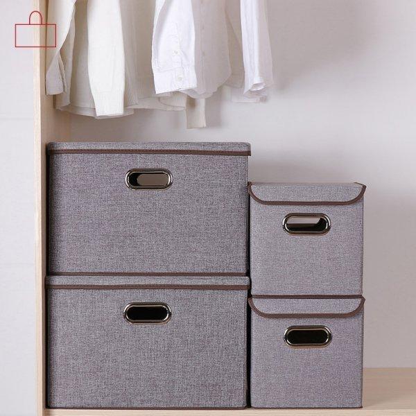 Складная коробка с крышкой от HAOJIANXUAN (2 цвета, 2 размера)
