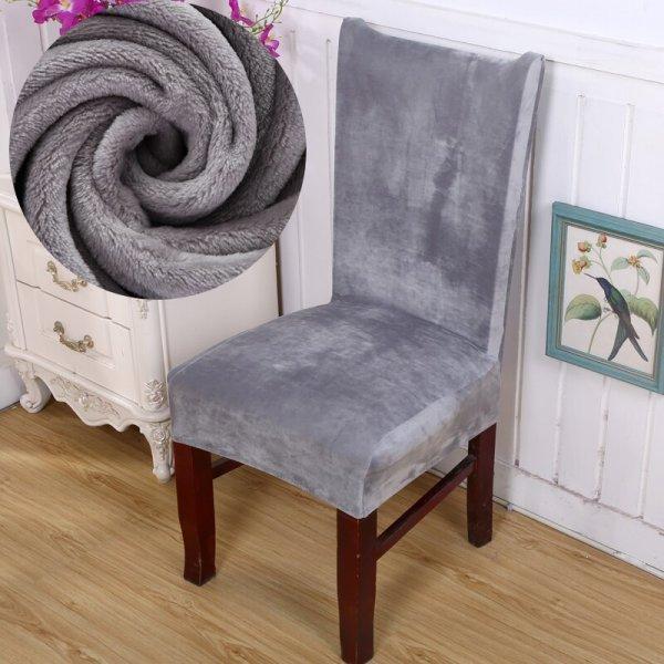 Плюшевый чехол на стулья от S-EMIGA (18 цветов)