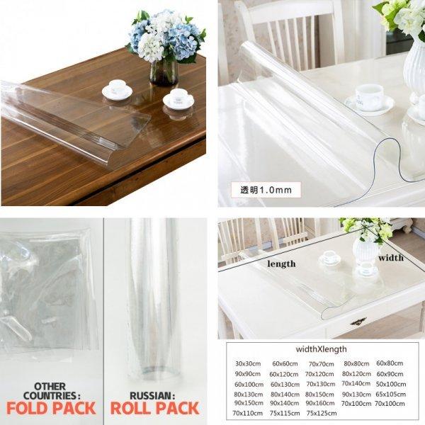Прозрачная скатерть на стол YOMDID