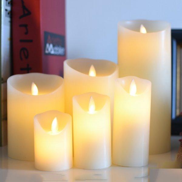 Восковая свеча со светодиодным пламенем (11 размеров)