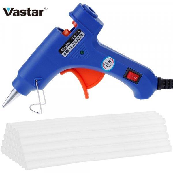 Удобный клеевой пистолет Vastar для аккуратной работы (20 Вт, 180℃, 30 клеевых стержней)