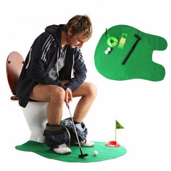 Забавный коврик с игрой в Гольф для санузла VKTECH