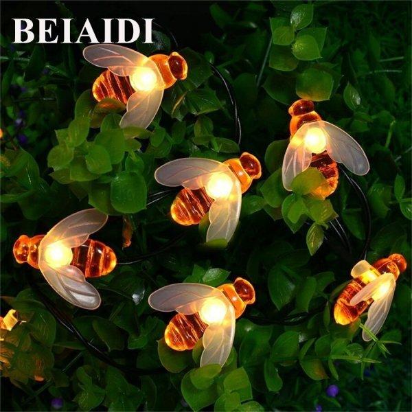 Гирлянда Милая пчелка от BEIAIDI (5 м, теплый белый свет, 20 пчелок)