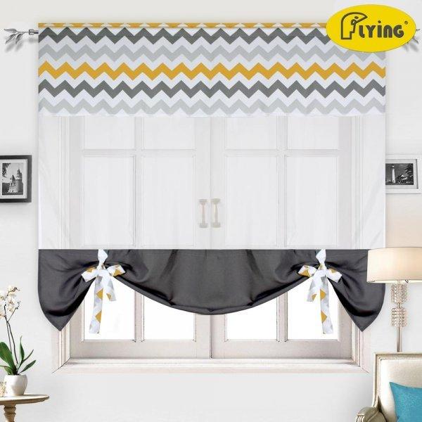 Плотные шторы на кухню (4 рисунка, 5 размеров)