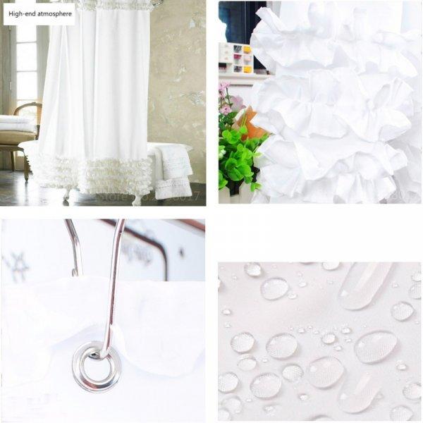 Шторка для ванной с рюшами (2 размера]