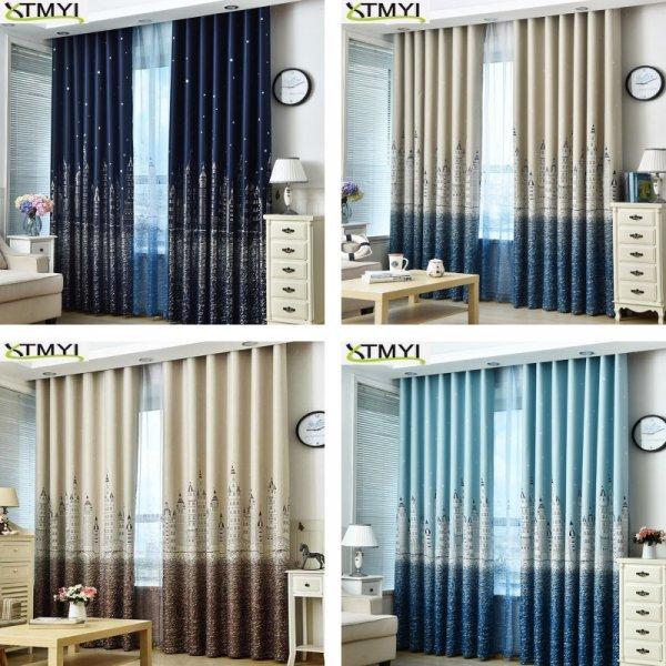Оригинальные шторы для спальни и гостиной XTMYI (12 размеров, 7 принтов)