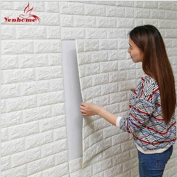 Самоклеящаяся панель 3D Кирпич  (12 цветов, 70*15 см, 70*38 см, 70*77 см, водонепроницаем.)