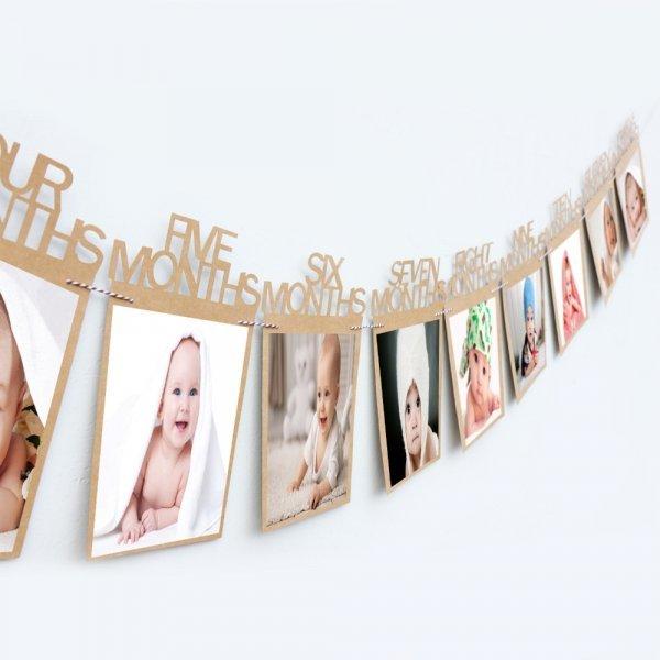 Подвесные рамки для детских фото BIT.FLY  (12 шт, картон, 6 цветов, 14x23 см)