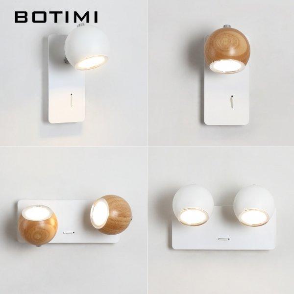Шикарное бра с регулировкой свечения и угла BOTIMI  (2 цвета, 3 режима, 1-2 рожка)