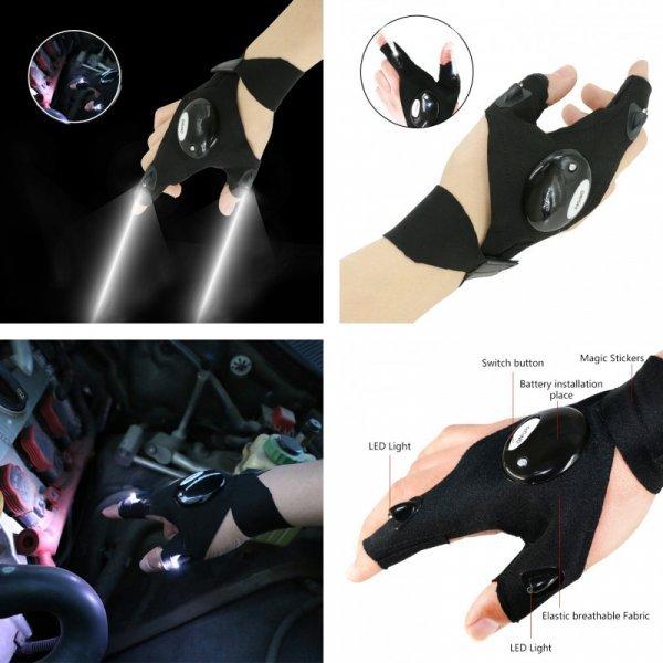 Перчатки со светодиодной подсветкой от  MACHINIST (1 шт)
