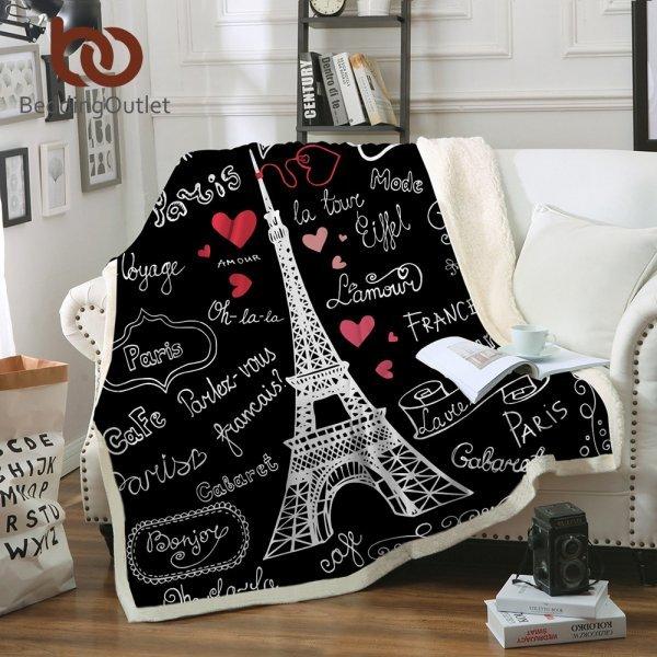 Оригинальный плед Париж от BeddingOutlet (2 размера)