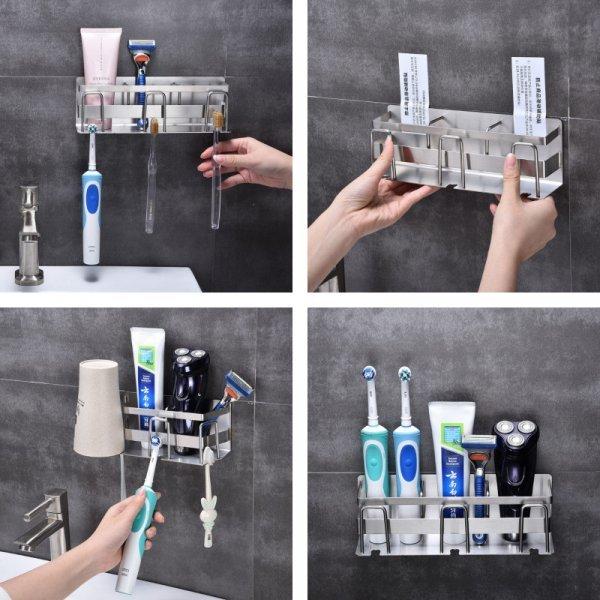 Держатель для зубной пасты и для зубной щетки из нержавеющей стали