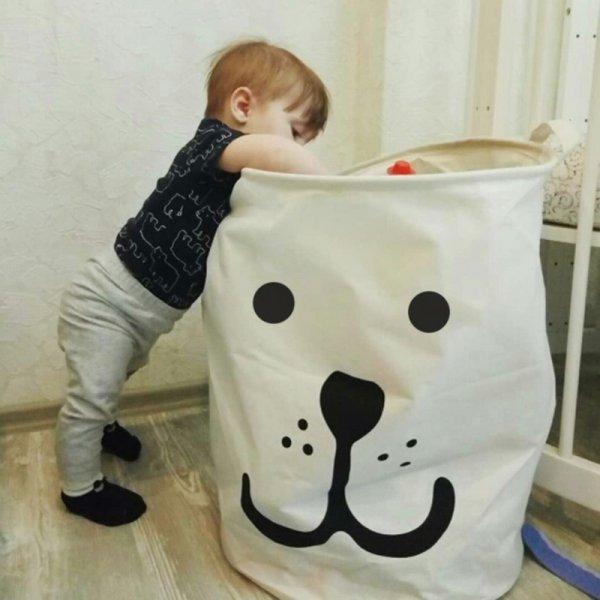 Тканевая корзина для игрушек или белья от PUTING (17 цветов, 4 размера)