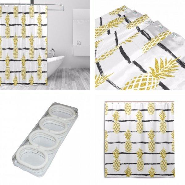 Влагостойкая штора для ванной (4 размера)