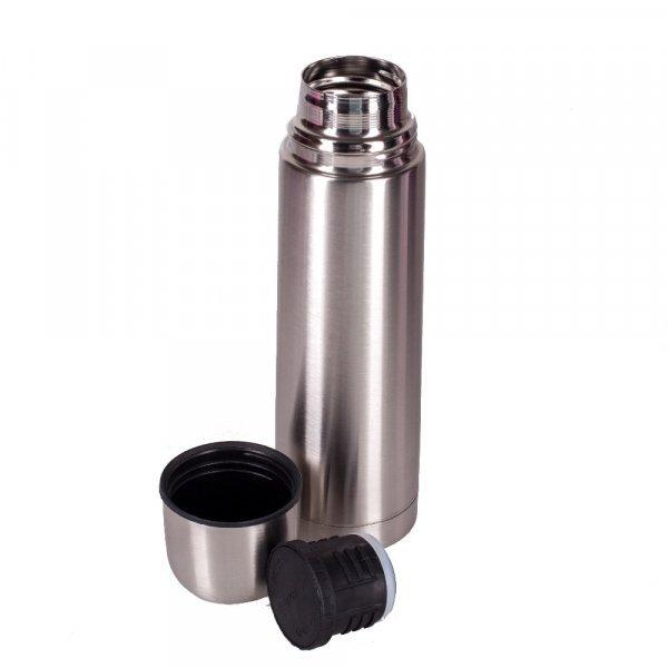 Стильный металлический термос Пуля (1л, нерж.сталь)
