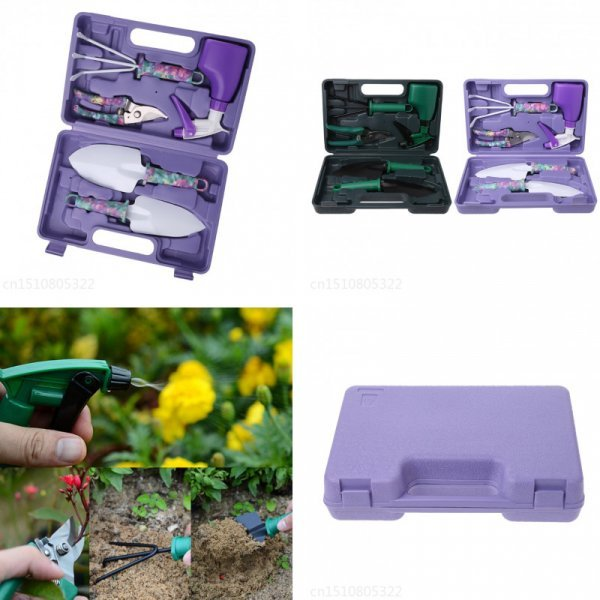 Фиолетовый набор садовых инструментов OOTDTY