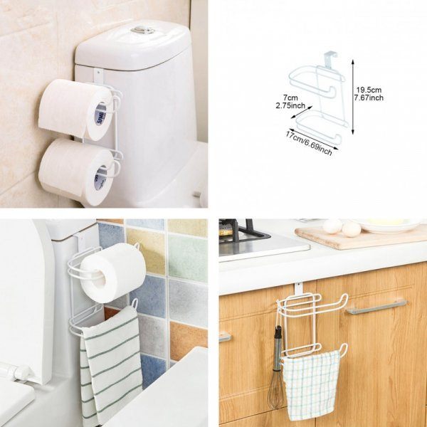 Держатель для 2 рулонов туалетной бумаги DINIWELL (7*17*19,5 см)