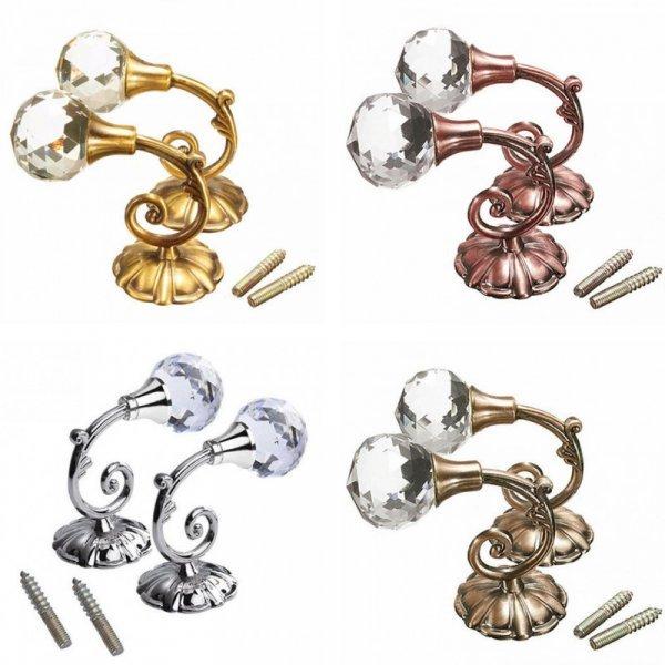 Массивные крючки с кристаллами от HOUSEEN (2 шт, 4 цвета)
