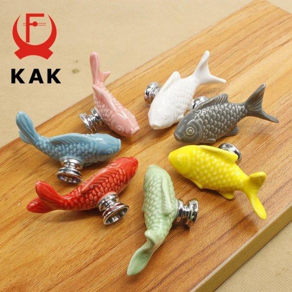 Керамические рыбки для детской комнаты от КАК (7 цветов)