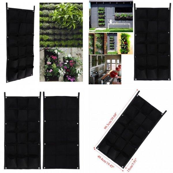 Вертикальный сад от VKTECH (50 см * 100 см, 18 кармашков)
