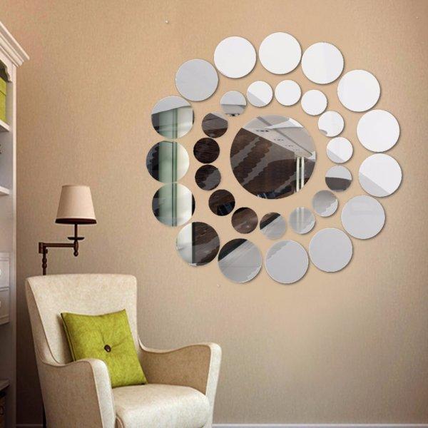 Зеркальные стикеры ISHOWTIENDA (31 шт, 3 цвета)