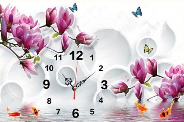 Часы - алмазная мозаика от LUOVIZEM (6 видов, 4 размера)