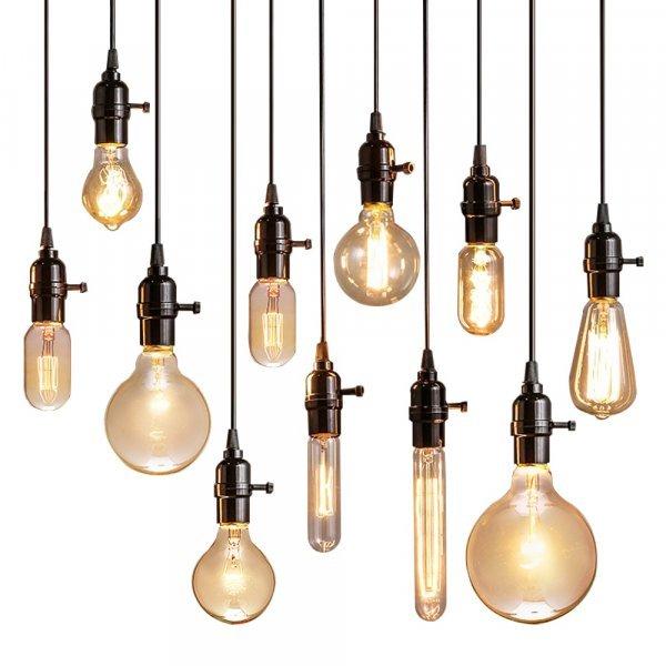 Ретро светильники Эдисона в ассортименте Lingstone