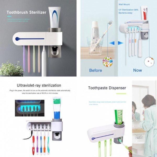 Стерилизатор зубной щетки с дозатором пасты