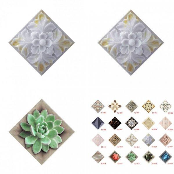 3D наклейки для декора от ELENXS (10 шт, 20 цветов)