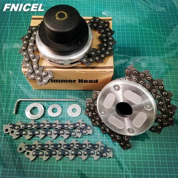 Головка с цепью для триммера от FNICEL (три комплектации)