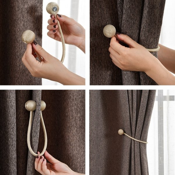 Магнитная подвязка для штор (1 шт, 7 цветов)