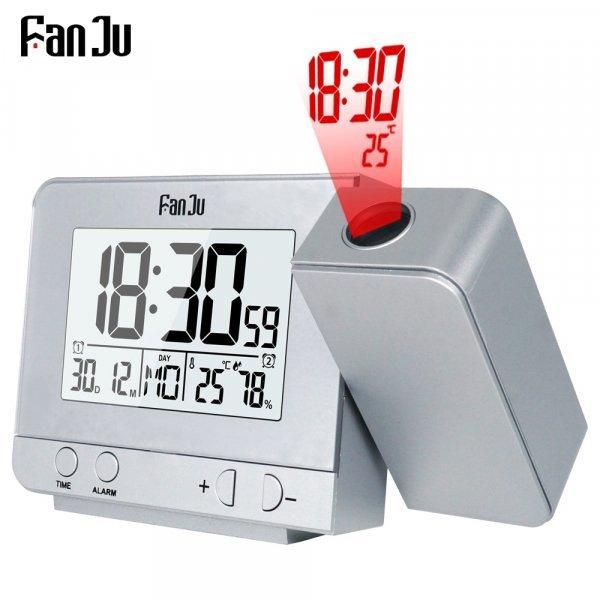 Проекционные часы от FANJU (2 цвета)
