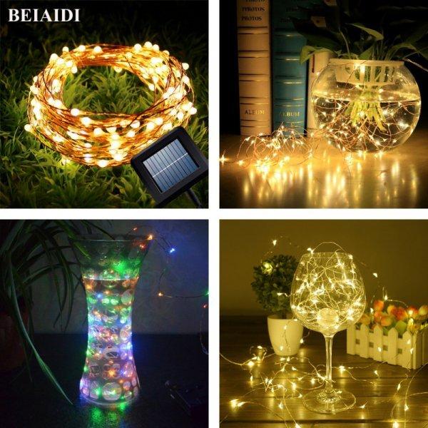 Гирлянда-шнур от BEIAIDI (в наличии 3 цвета, 10 м/100 ламп, 20 м/200 ламп)