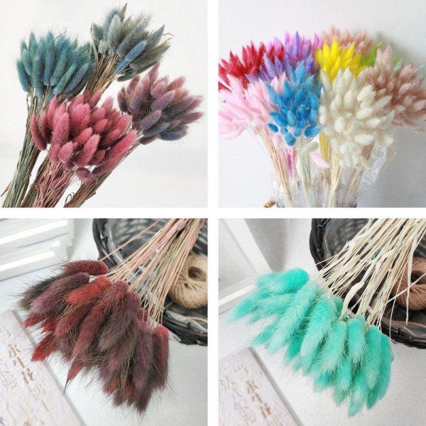 Букет из сушеных цветов для декора от QIANHUAYU (15 цветов)