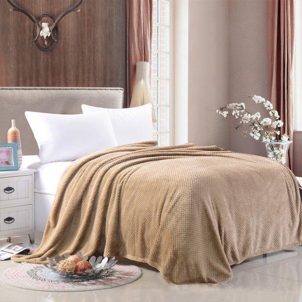 Плюшевое покрывало в спальню DREAM KARIN (11 цветов, 7 размеров)