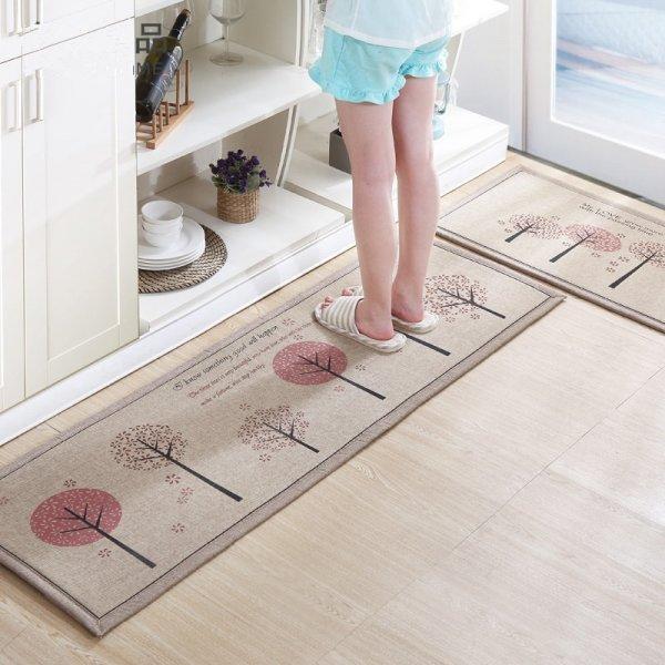 Набор льняных кухонных ковриков от SHENZHEN (2 шт, 4 принта)