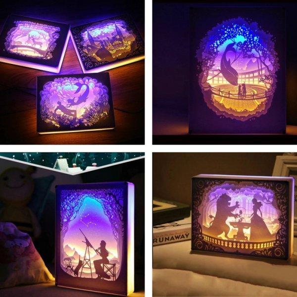 Волшебный светильник из бумаги