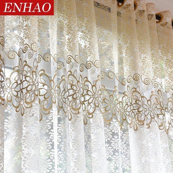 Струящийся тюль в гостиную ENHAO (2 цвета, 13 размеров)