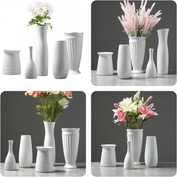Белоснежная ваза идеальна для гостиной Strongwell (5 видов)