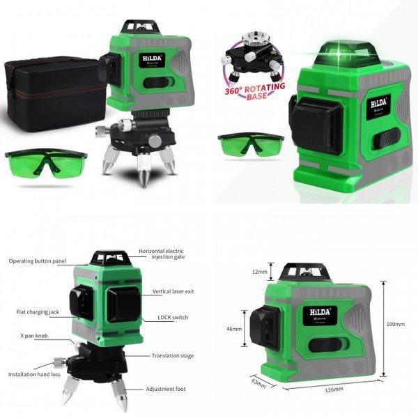 3D лазерный нивелир Hilda (360 градусов)