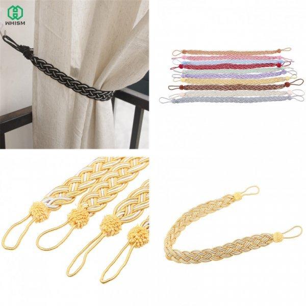 Плетеный подхват для штор от WHISM (2 шт, 10 цветов)