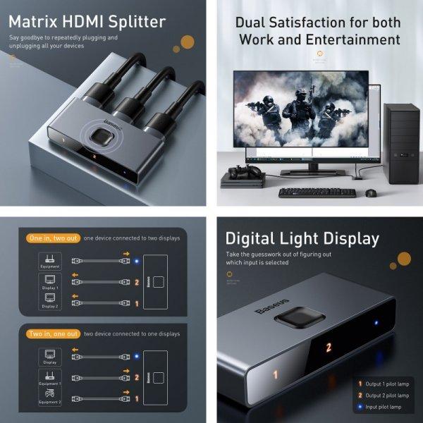 Разветвитель Baseus 4K HDMI