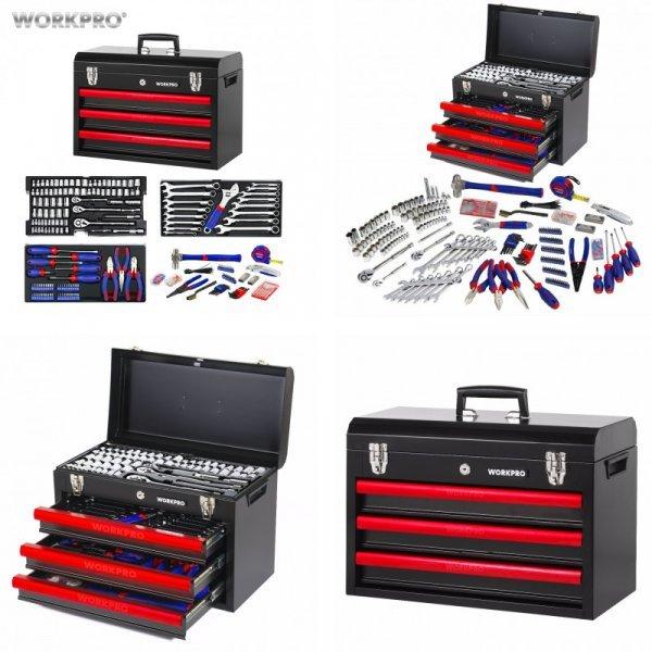 Мощный набор ручных инструментов WORKPRO (408 шт.)