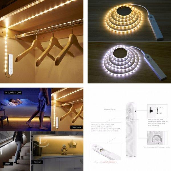 Подсветка для шкафа с датчиком движения от MALITAI (1 м, 2 м, 3 м)