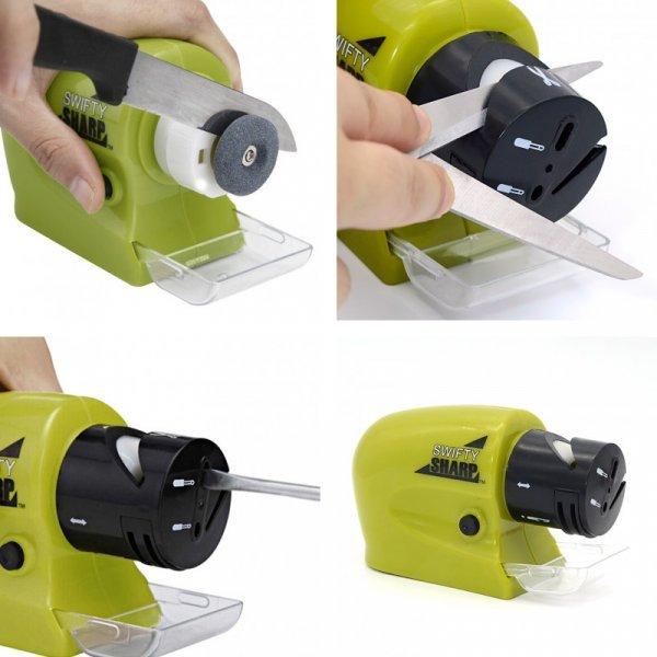 Компактная точилка для ножей на батарейках DINIWELL