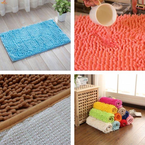 Уютный коврик из микрофибры для ванной и гостиной MustHome (40*60 см, 15 цветов)
