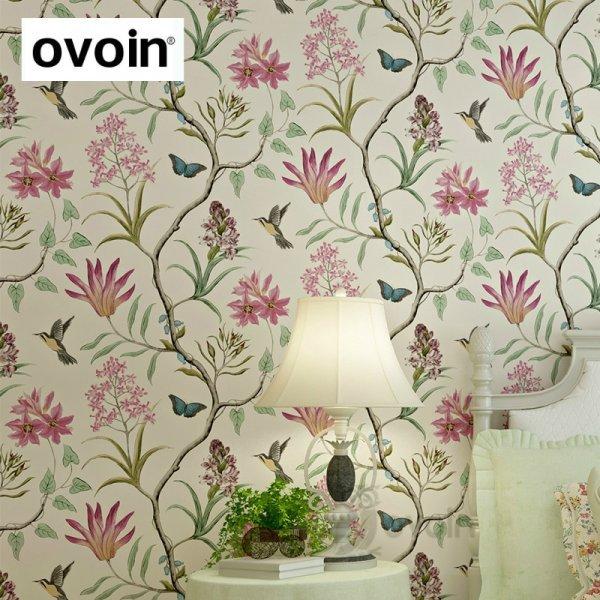 Эксклюзивные бумажные обои для спальни Ovoin (3 рисунка)