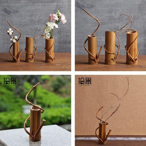 Декоративные вазы из бамбука от ORIENTAL CRAFTSMEN (2 вида)